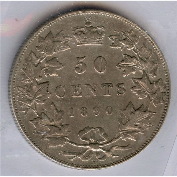 1890H Fifty Cents