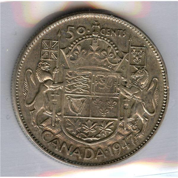 1947 Fifty Cents - ML CR 7 Rarity