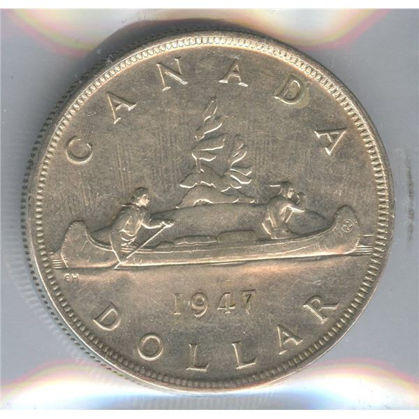 1947 Silver Dollar - Pointed 7