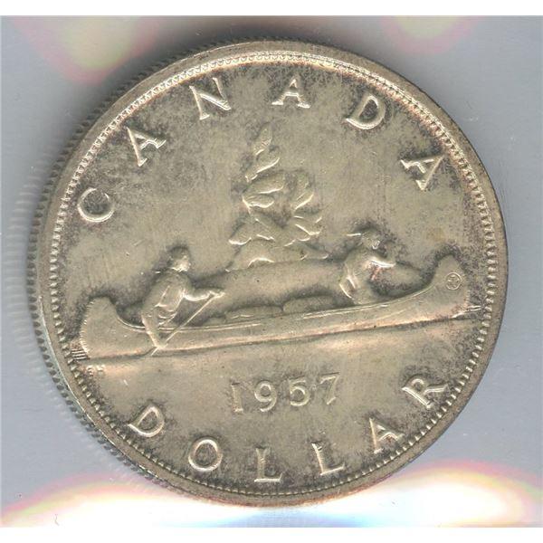 1957 Silver Dollar - 1 WL