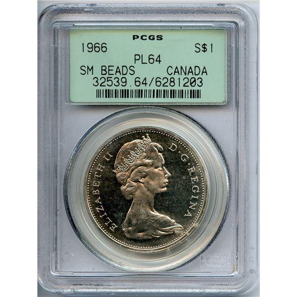 1966 Silver Dollar - Rare Small Beads