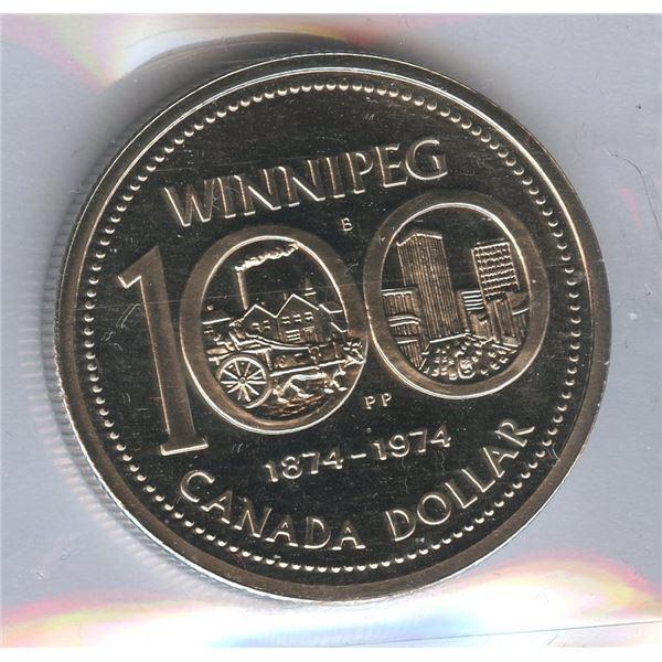 1974 Nickel Dollar - Double Yoke