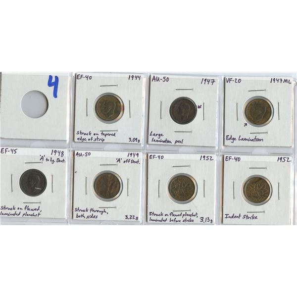 Errors - One Cent Lot of 7