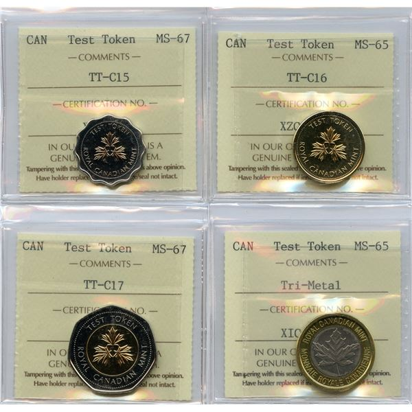 Test Tokens - ICCS Graded Lot of 4