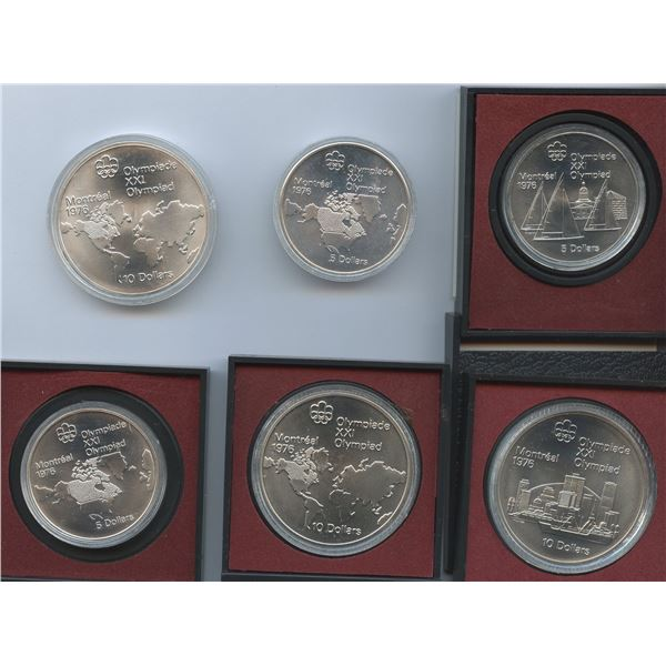1976 Olympic Sterling Silver Coins - Lot of 6