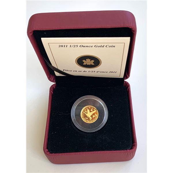 2011 Canada Geese 1/25 oz. Gold Coin