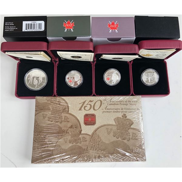 Royal Canadian Mint Fine Silver - Lot of 5 Coins