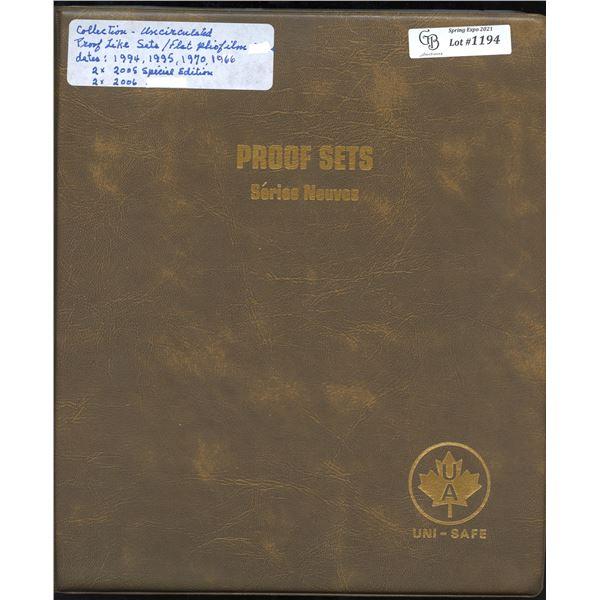Royal Canadian Mint Proof Like Uncirculated - Lot of 7 Sets & Bonus