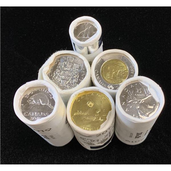 Royal Canadian Mint Rolls - Lot of 6