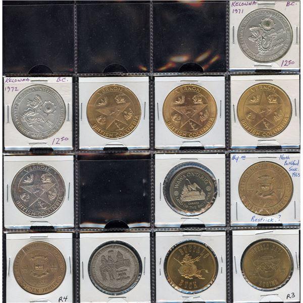BC, Saskatchewan Trade Dollars - Lot of 64
