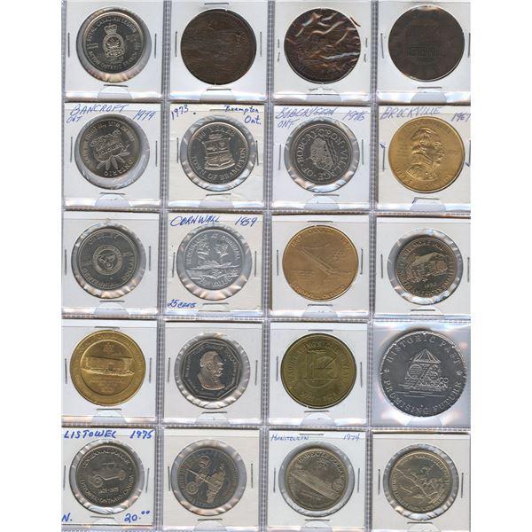 Ontario, Manitoba, Saskatchewan, BC, etc....Trade Dollars - Lot of 100