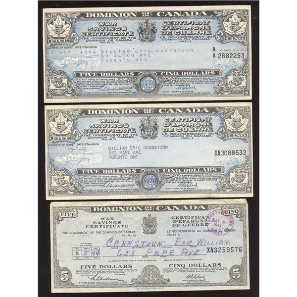 War Savings Certificates & Revenue Cheque - Lot