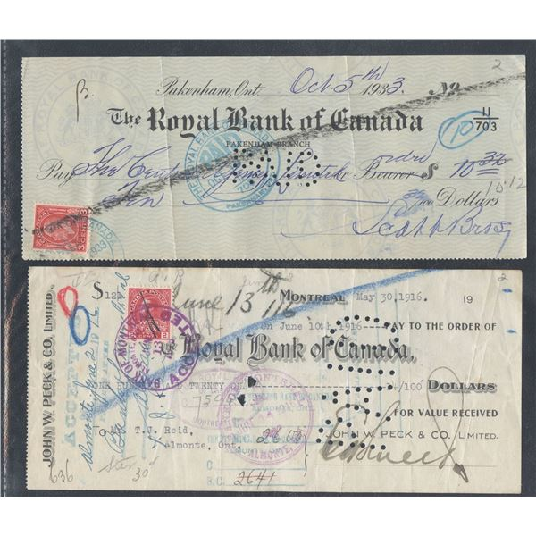 Assorted Canada Bank Cheques