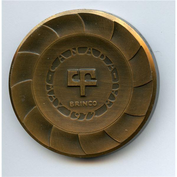 1972 Churchill Falls Safety Newfoundland & Labrador Medallions