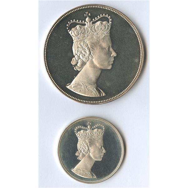 1964 Royal Visit Silver Medals - (large and medium)