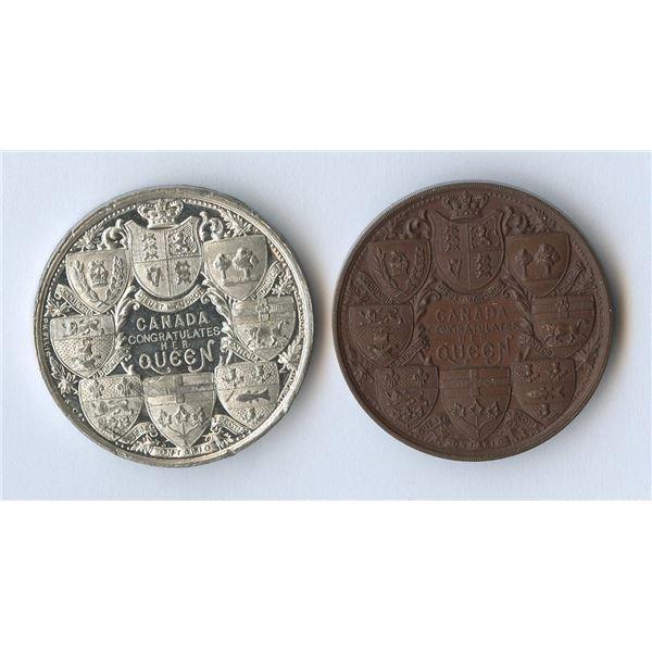 Canada Queen Victoria Jubilee 1837-1897 medals.