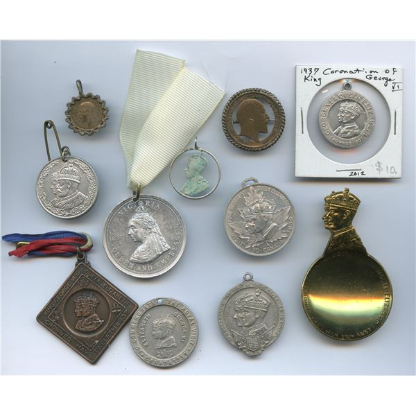 Group of various Royalty Medals - Lot of 11