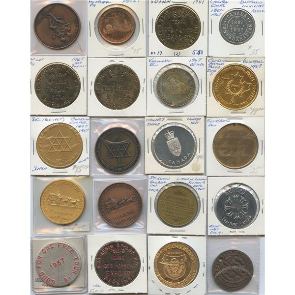 Canada Expo and Related, 1967 Medals - Lot of 71