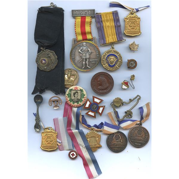 Medals, pins and various