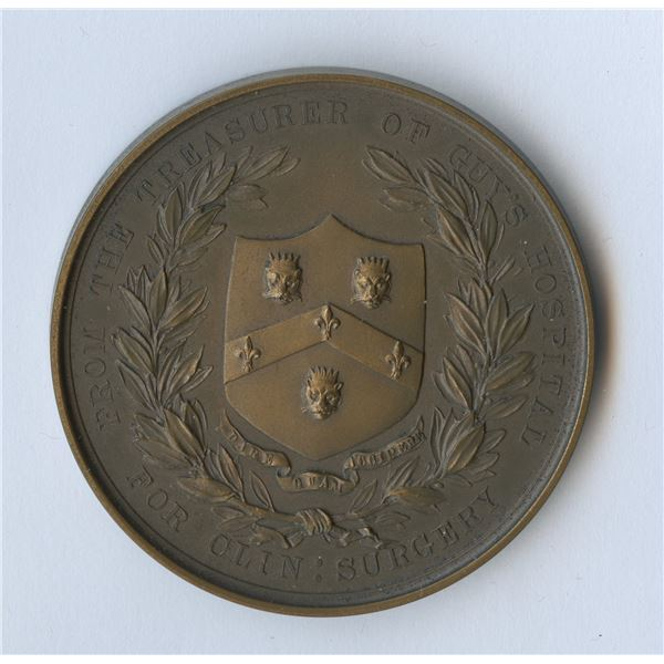 Edward VII, Guy's Hospital, copper medal for clinical surgery