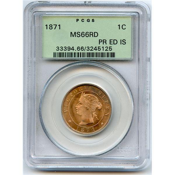 1871 Prince Edward Island One Cent