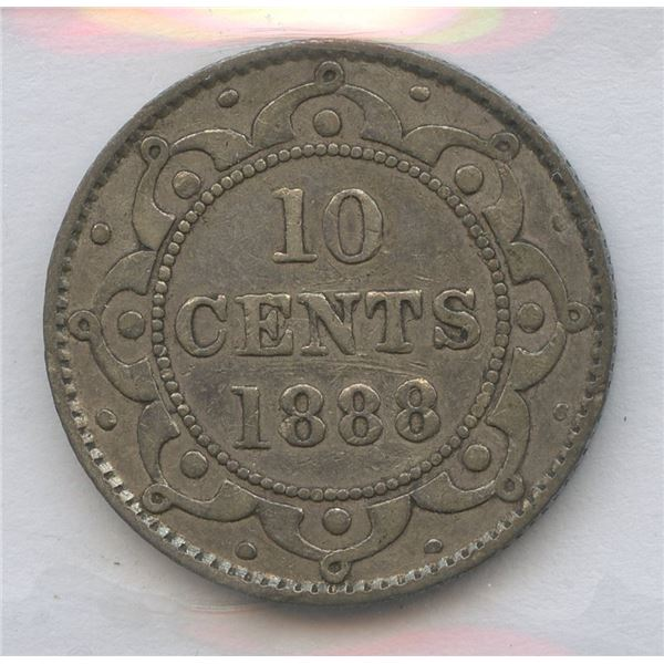 1888 Newfoundland Ten Cents