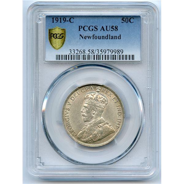 1919c Newfoundland Fifty Cents