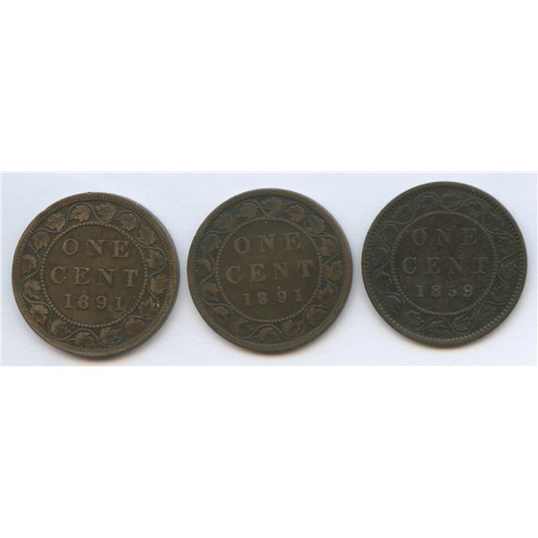 Large Cents Varieties - Lot of 3