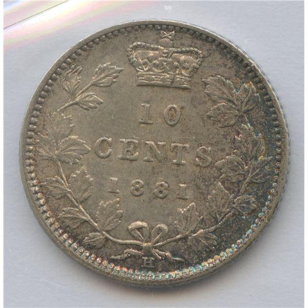 1881H Ten Cents - Obverse 1