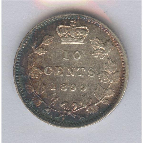 1899 Ten Cents - Large 9's