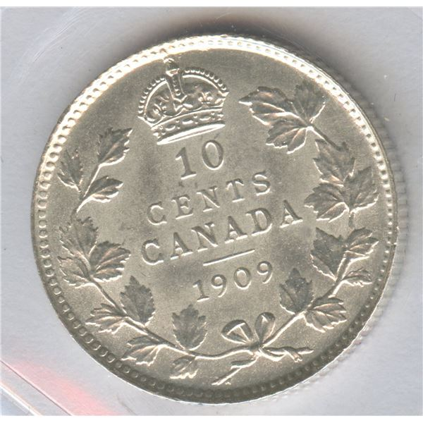 1909 Ten Cents - Victorian Leaves