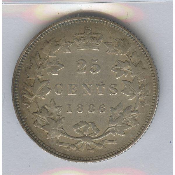 1886 Twenty-Five Cents - SBE