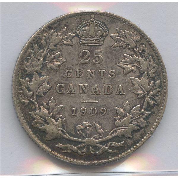 1909 Twenty-Five Cents