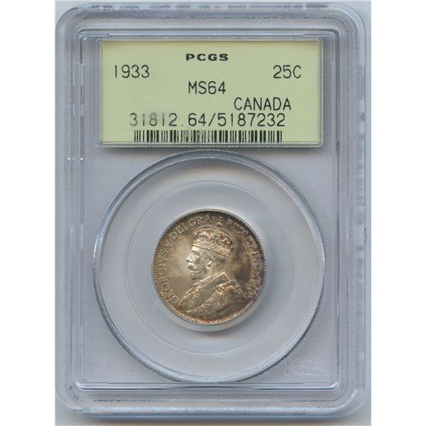 1933 Twenty-Five Cents