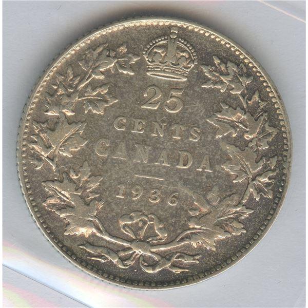 1936 Twenty-Five Cents - Dot
