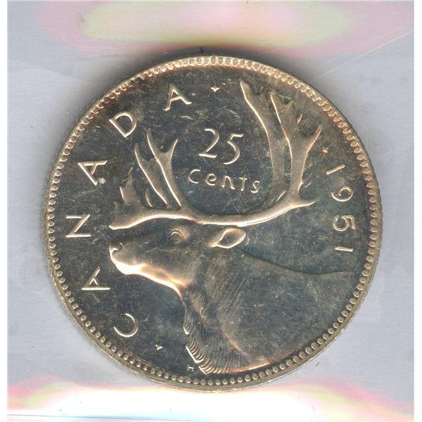 1951 Twenty-Five Cents - Proof Like