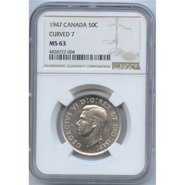 1947 Fifty Cents - Curved 7