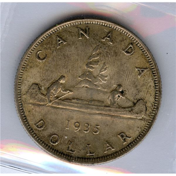 1935 Silver Dollar - Short Waterlines