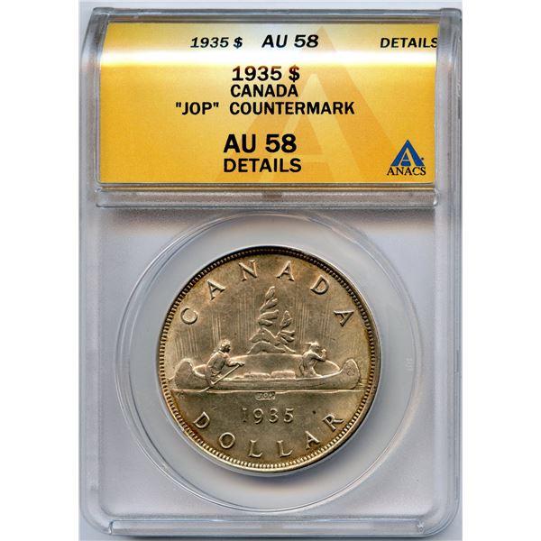 1935 Silver Dollar - JOP, Type II