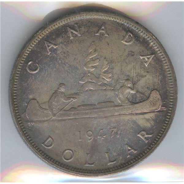 1947 Silver Dollar - Maple Leaf