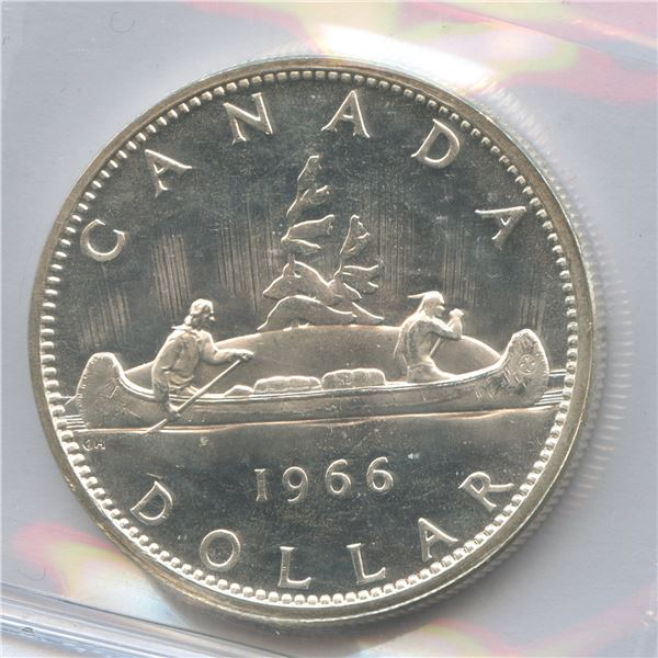 1966 Silver Dollar - Small Beads