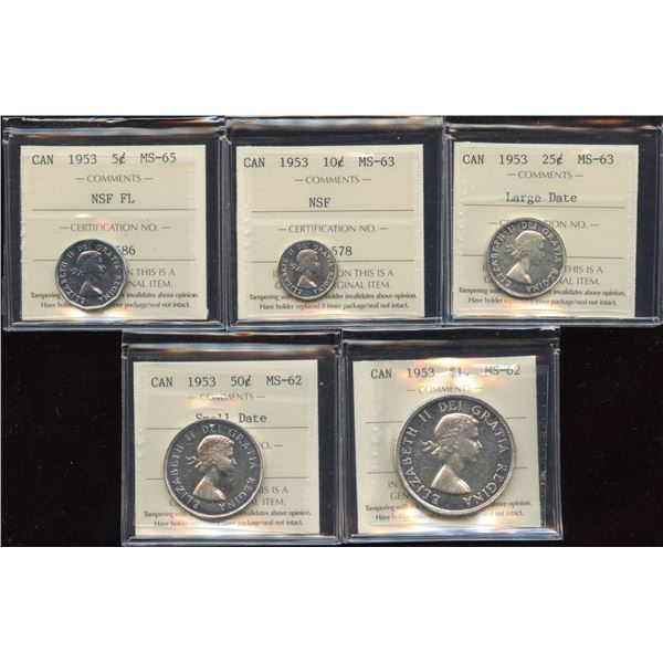 H. Don Allen Collection - 1953 Canadian Partial Set - All ICCS Graded