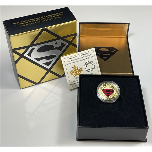 2014 $100 Iconic Superman Comic Book Covers - Gold