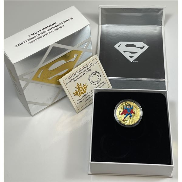2015 Canada $100 Iconic Superman Comic Book Covers - Gold