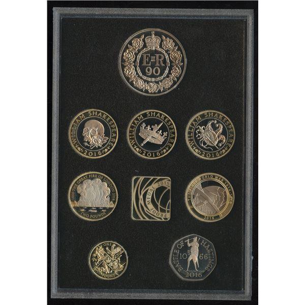 2016 UK Royal Mint 8 coin Commemorative Proof Set