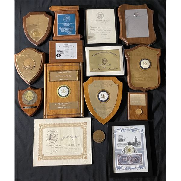 H. Don Allen Collection - Personal Numismatic Awards