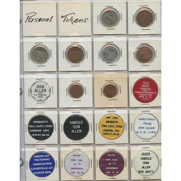 H. Don Allen Collection - Personal Numismatic Tokens