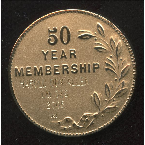 H. Don Allen Collection - ANA 50 yr Gold medal & Numismatic Memberships