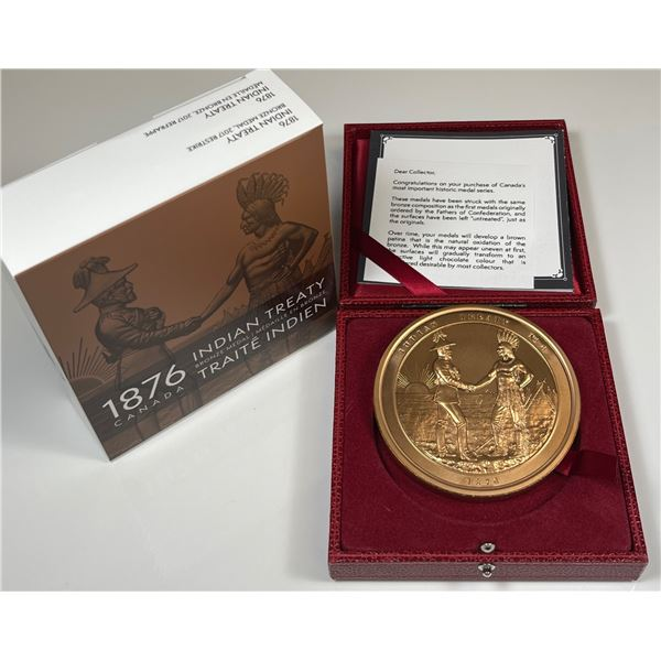 1876 Indian Treaty Medal Restrike- 10 oz. Bronze