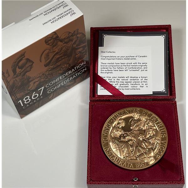 1867 Confederation Medal Restrike - 10 oz. Bronze